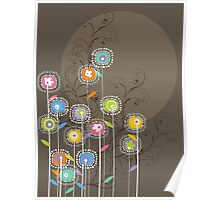 My Groovy Flower Garden Grows Poster