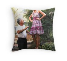 ladies' man Throw Pillow