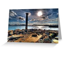 Sydney Harbour Sandstone Pillar Greeting Card