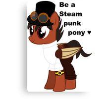 Steampunk pony Canvas Print
