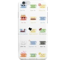 Tea Chart iPhone Case/Skin
