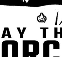 """Jean Luc Picard - """"May The Force Be With You"""" Sticker"""
