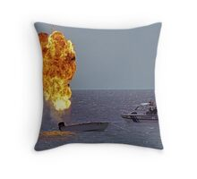 Explosives on board Throw Pillow