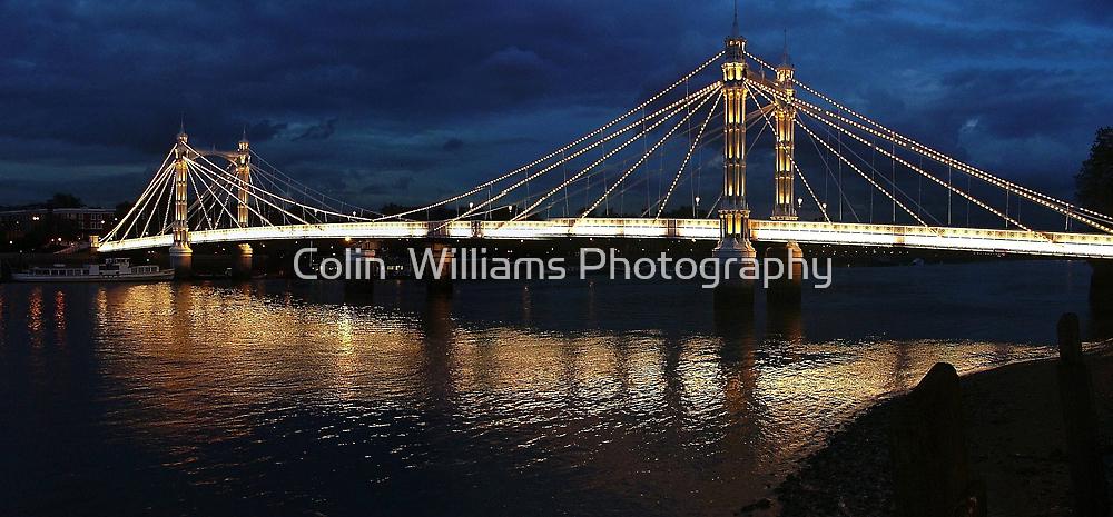 Albert Bridge London at Twilight by Colin  Williams Photography