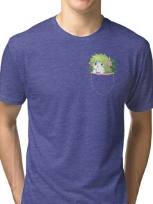 Shaymin on Pocket ! Tri-blend T-Shirt
