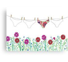 laundry line flowers Canvas Print