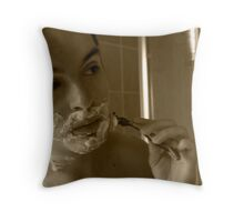Foaming at the mouth Throw Pillow