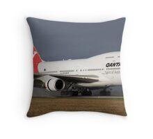 Qantas Landing Throw Pillow