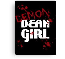 DEMON Dean Girl Canvas Print