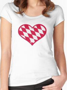 Bavaria heart Women's Fitted Scoop T-Shirt