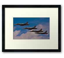 Super Hornet in Formation Framed Print