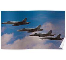 Super Hornet in Formation Poster