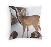 Uninvited Guests Throw Pillow