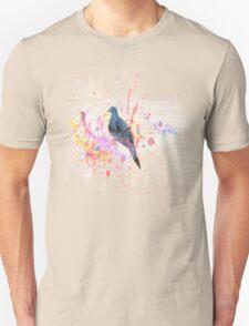 Paint-splatter Watercolor Bird [0.2] Transparent T-Shirt