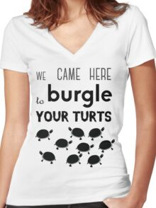 your turts Women's Fitted V-Neck T-Shirt