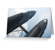 KL Twin Tower Greeting Card
