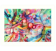 Nice Clowns You Got There - Watercolor Painting Art Print