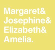 Margaret & Josephine & Elizabeth & Ameila Kids Tee