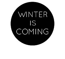 winteriscoming Photographic Print
