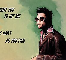 Tyler durden- fight club by CasualBadger