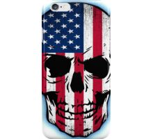 Vintage USA Flag Skull Design iPhone Case/Skin