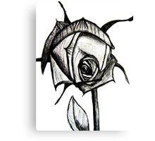 Rose Sketch Canvas Print