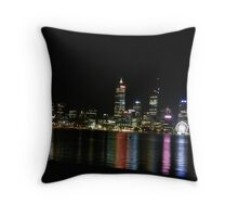 Perth Night Skyline. Perth Foreshore. South Perth. Throw Pillow