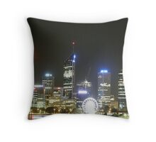 The Very Bright Night Skyline Of Perth. Perth Foreshore. South Perth. Throw Pillow