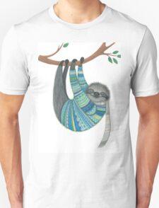 Smiley sloth wearing sweater Unisex T-Shirt