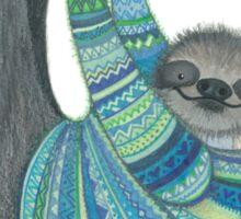 Smiley sloth wearing sweater Sticker