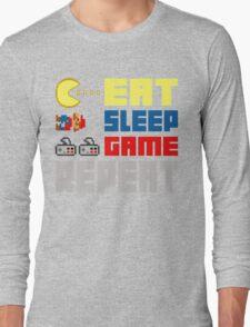 Eat. Sleep. Game. Repeat. Long Sleeve T-Shirt