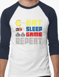 Eat. Sleep. Game. Repeat. Men's Baseball ¾ T-Shirt