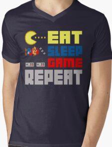 Eat. Sleep. Game. Repeat. Mens V-Neck T-Shirt