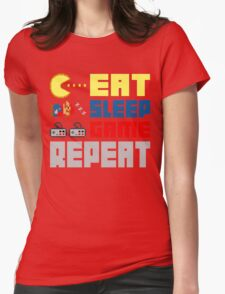 Eat. Sleep. Game. Repeat. Womens Fitted T-Shirt