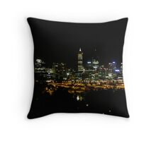 Perth's Night Skyline. Kings Park.  Throw Pillow