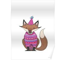 happy birthday fox Poster