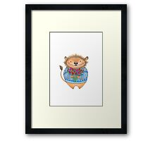 Little Lion with flowers Framed Print