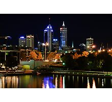City at Night Photographic Print