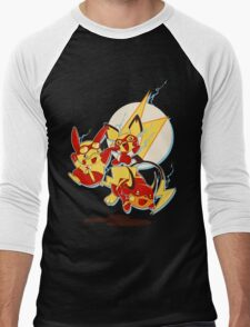 Rai Flash, Pika Flash and Impichu Men's Baseball ¾ T-Shirt
