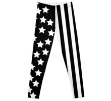 Black American Flag Leggings Leggings