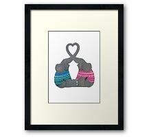 Elephant Love Heart Trunks Framed Print