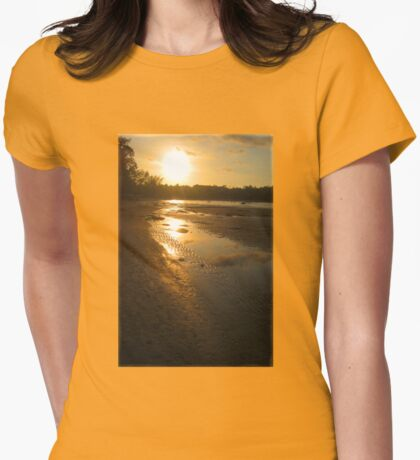 Sunset Gold Thai Style Womens Fitted T-Shirt