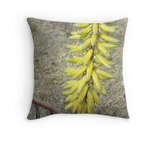 Aloe Flower Stalk Throw Pillow