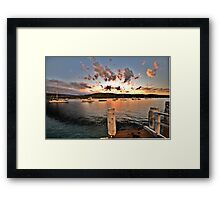 Sunset Landing - Newport - The HDR Experience Framed Print