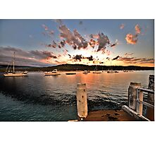 Sunset Landing - Newport - The HDR Experience Photographic Print