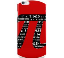 Pi Symbol Red  iPhone Case/Skin