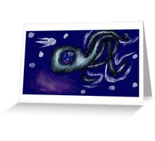 3 Legged Space Squid  Greeting Card