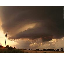 Watching the Storm Pass... Photographic Print