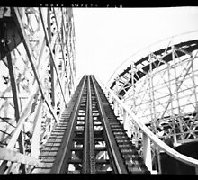 """The Cyclone"" Roller Coaster, Revere Beach - Hill negative by ngscollection"