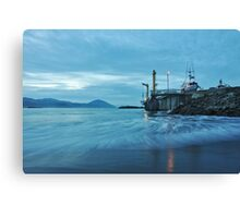 Commercial Fishing Dock Canvas Print